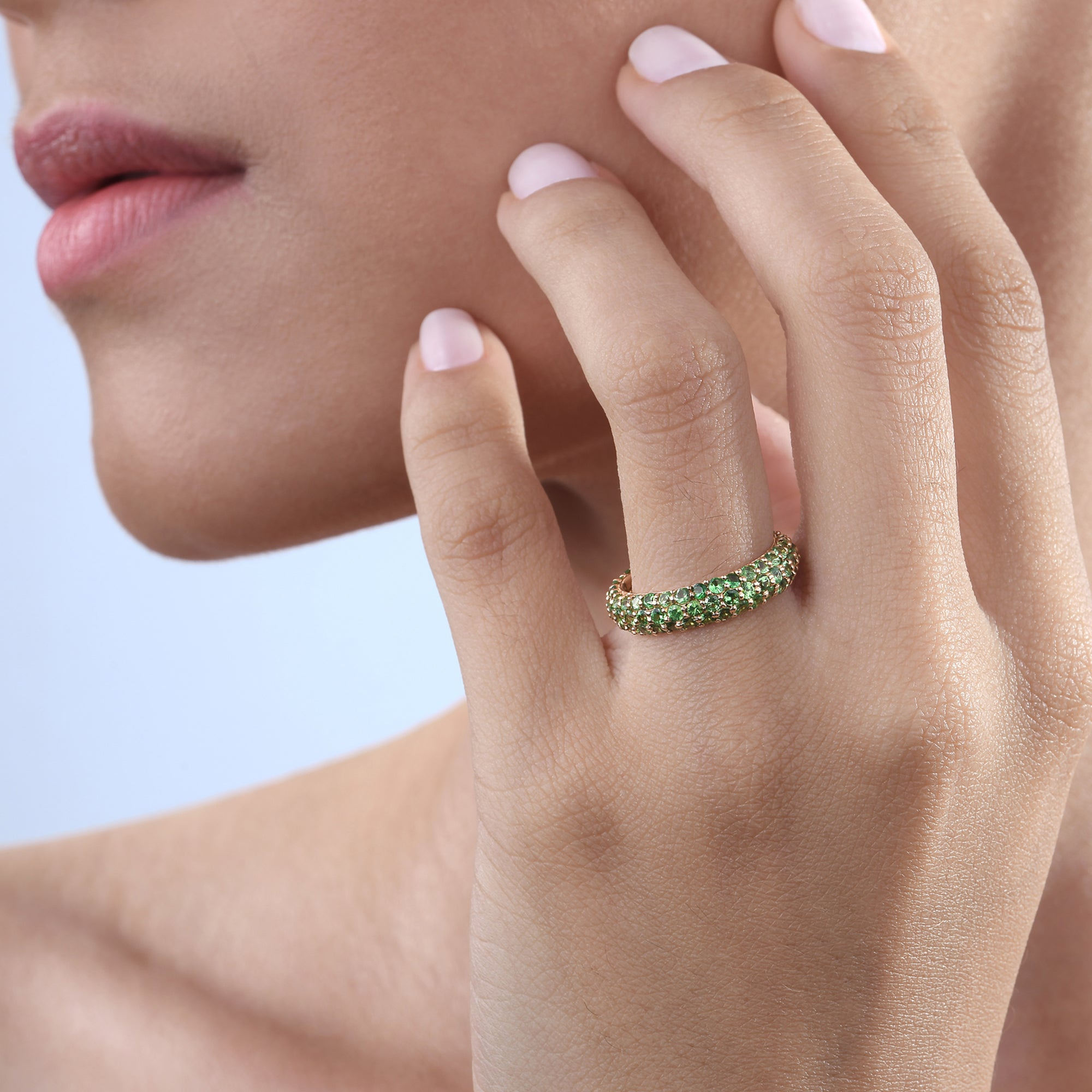 Tsavorite Stackable Classic Ring