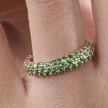 Load image into Gallery viewer, Tsavorite Stackable Classic Ring