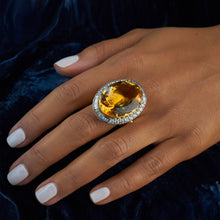 Load image into Gallery viewer, Citrine and Diamond Ring