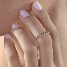Load image into Gallery viewer, Coffee Diamond Stackable Eternity Midi Ring