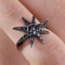 Load image into Gallery viewer, Star Black Diamond Midi Ring