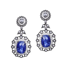 Load image into Gallery viewer, Tanzanite and Diamond Earrings