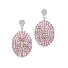 Load image into Gallery viewer, Pink Sapphire and Diamond Earrings