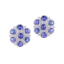Load image into Gallery viewer, Tanzanite and Diamond Studs