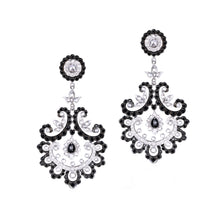 Load image into Gallery viewer, Black and White Diamond Earrings