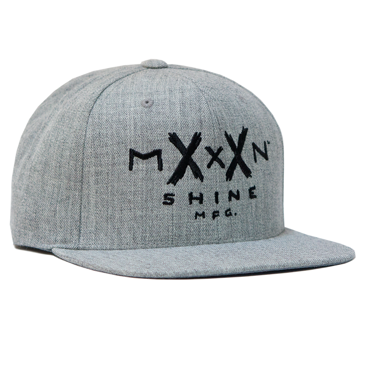 Moonshine Logo Snapback - Heather Grey