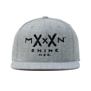 Moonshine Logo Snapback - Heather Grey - Moonshine Mfg
