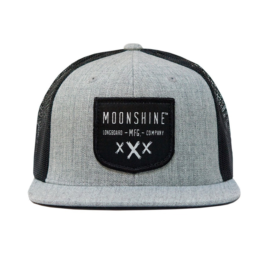 Moonshine Shield Snapback - Grey/Black Mesh