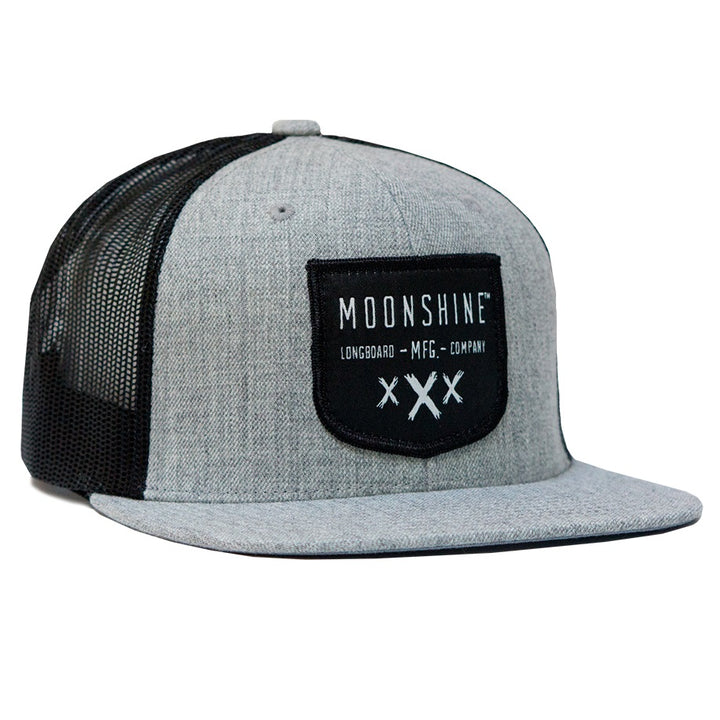 Moonshine Shield Snapback - Grey/Black Mesh - Moonshine Mfg