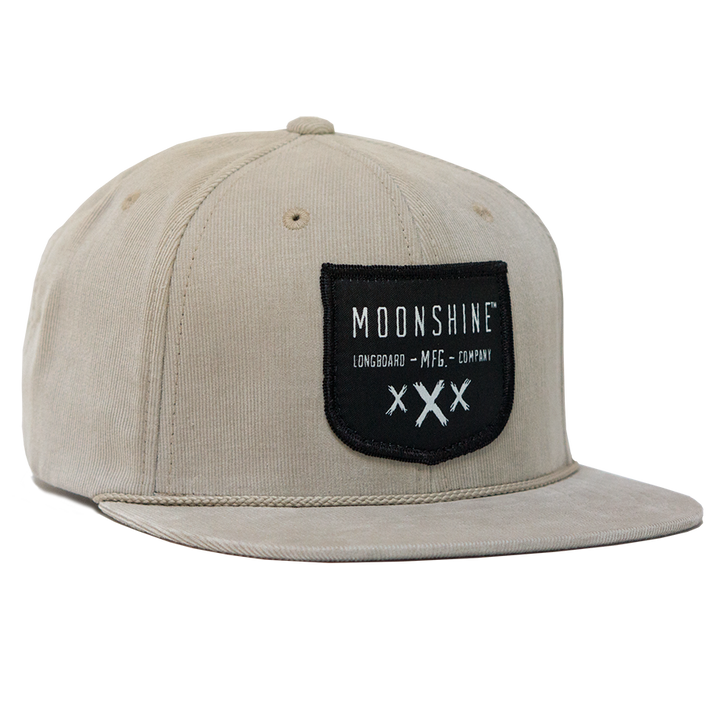 Moonshine Shield Snapback - Tan - Moonshine Mfg