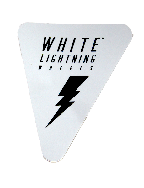 White Lightning White Sticker