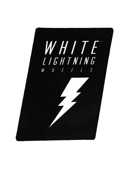 White Lightning Black Sticker - Moonshine Mfg