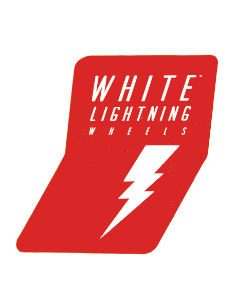 White Lightning Red Sticker