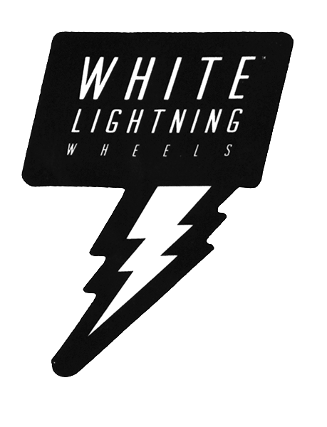 White Lightning Bolt Sticker - Moonshine Mfg