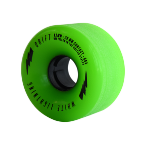 62mm DRIFT Green Wheel Set (80A, Centerset) - Moonshine Mfg