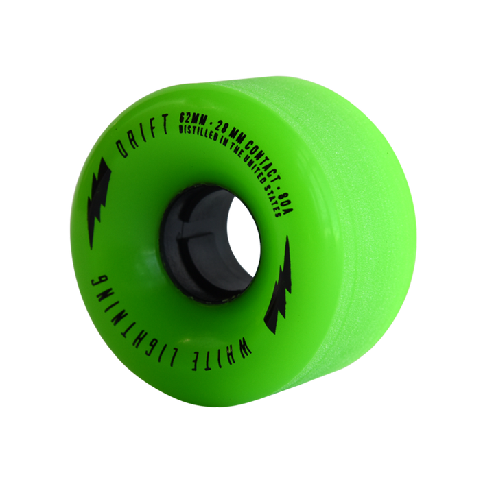 62mm DRIFT Green Wheel Set (80A, Centerset)