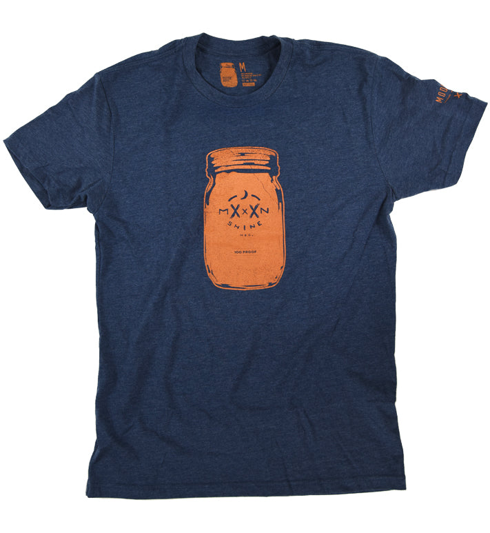 100 Proof Navy Tee - Moonshine Mfg
