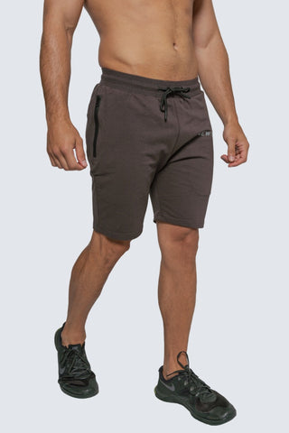 INTREPID ATHLETE INSIDE TRACK SHORT CHARCOAL
