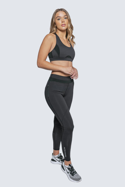 Wherever You Wander Sports Bra - Black