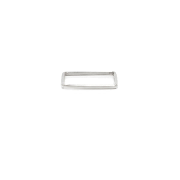Square Stackers - Sterling Silver