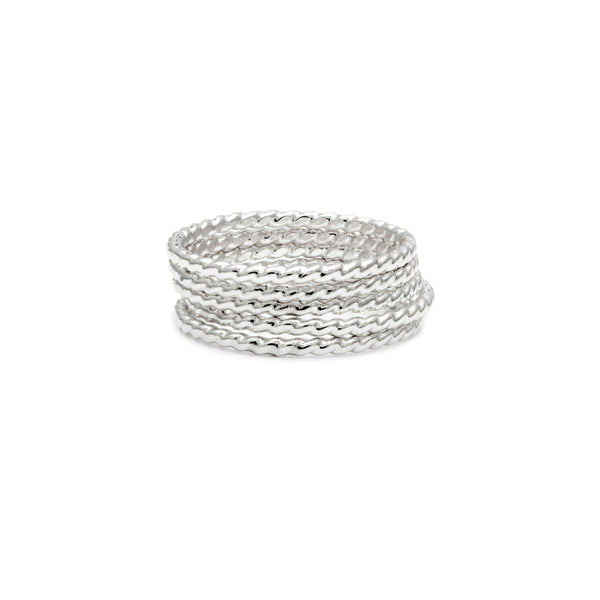 Simple Stackers - Silver Rope
