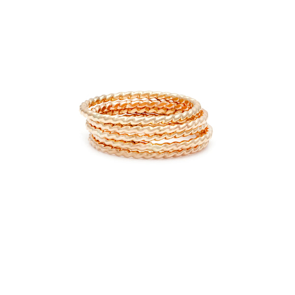 Simple Stackers - Gold Filled Rope