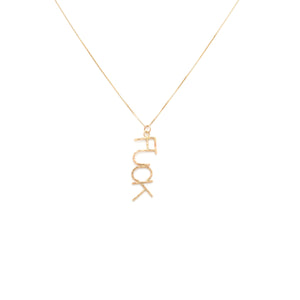 14k Gold Fuck Necklace