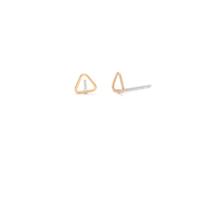 Tiny Gold Triangle Studs