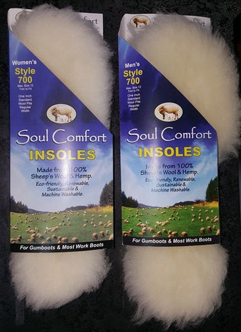 SOUL COMFORT Wool and Hemp Insoles