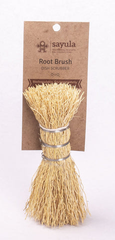 SAYULA Root Brush - Natural Dish and Veg Scrubber