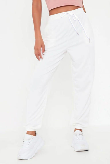 Ivory High Waist Loopback Jogger - MISS REBELLIOUS