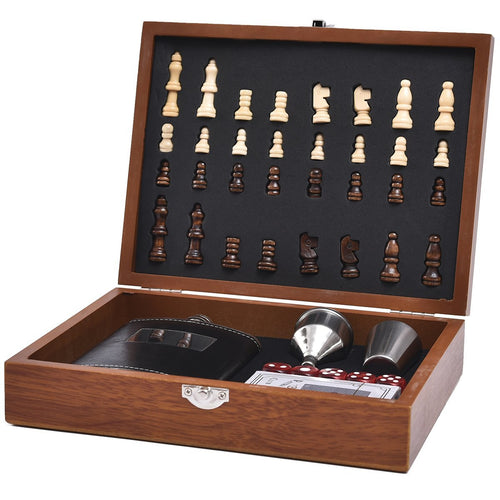 Mad Man Chess & Drink Set