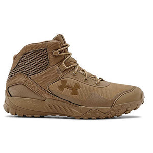 a single Under Armour Valsetz boot in Coyote brown