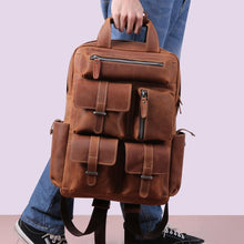 Load image into Gallery viewer, Crazy Horse Leather Backpack