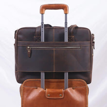 Load image into Gallery viewer, Crazy Horse Leather Laptop Briefcase