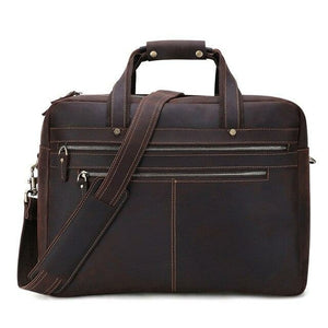 Crazy Horse Leather Laptop Briefcase