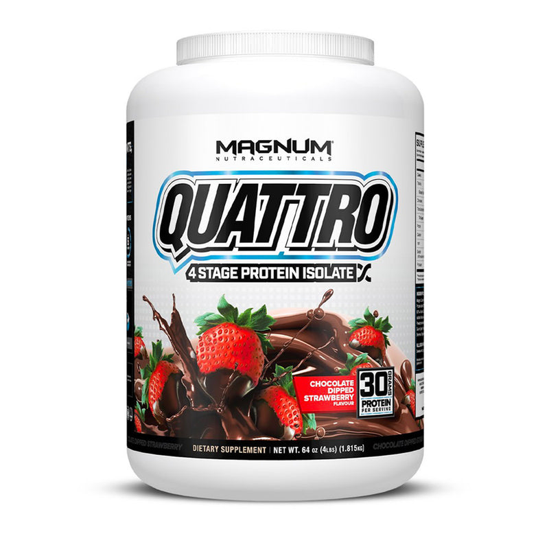 Magnum Neutraceuticals - Quattro - Chocolate Dipped Straberry - 4 lbs
