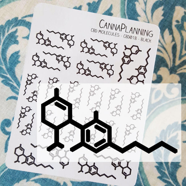 CBD Molecule Stickers