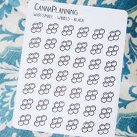 Small Cannabis Beeswax Stickers