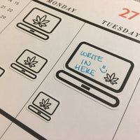 Marijuana Laptop Planner Stickers