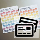 Small Credit Card Stickers
