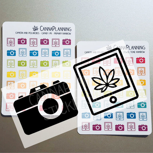 Pot Leaf Polaroid & Camera Stickers