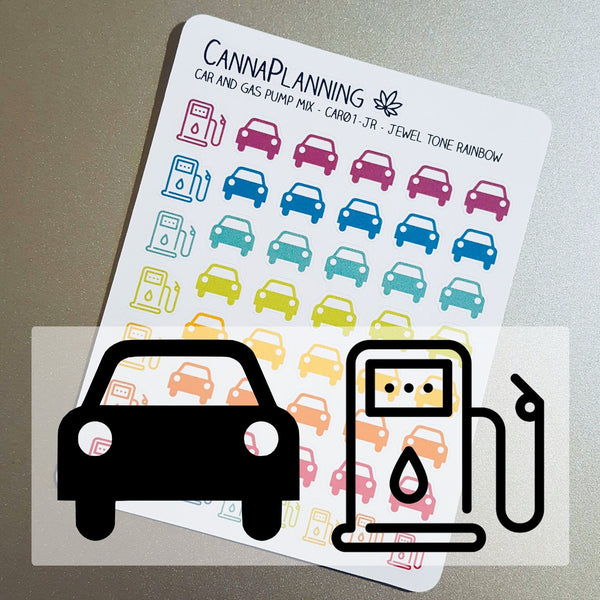 Car and Gas Pump Icon Stickers - CannaPlanning  - Icons, Non-Weed, Stickers