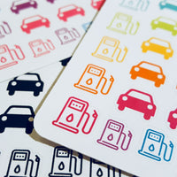 Car and Gas Pump Icon Stickers