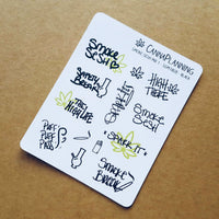 """Smoke Sesh Mix"" Hand-lettered Cannabis Stickers - CannaPlanning  - Hand Lettering, Non-Holiday, Stickers"