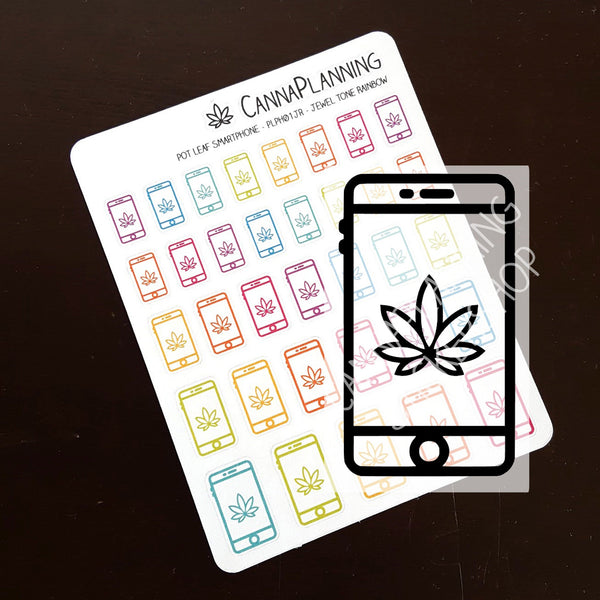 Pot Leaf Smartphone Stickers