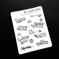 """Canna-Cooking"" Hand-lettered Cannabis Phrase Stickers - CannaPlanning  - Hand Lettering, Non-Holiday, Stickers"