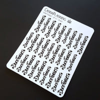 Don't Forget, Hand-Lettered Stickers