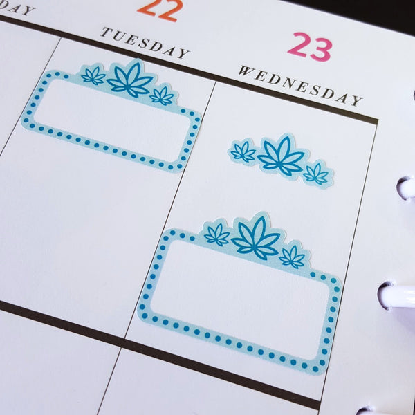 Marijuana Marquee Stickers, Movie Marquee, 420 Art, Weed, Erin Condren, Happy Planner