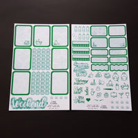 Self Care Marijuana Sticker Weekly Mini Kit